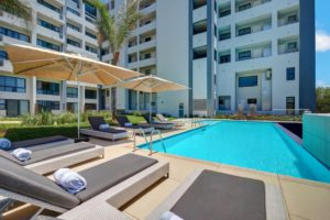 Pool area at The Regency Apartment Hotel Menlyn