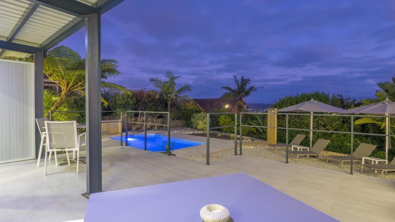 Pool area at THEBLOEM Guest Suites